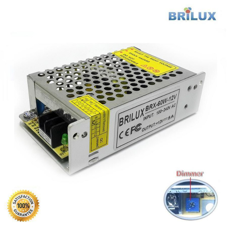Power Supply Indoor 60W / 5A 12V