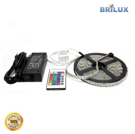 Paket Strip D ( Strip RGB + Adaptor + Remote )