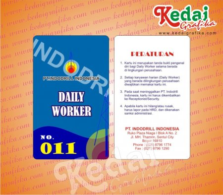 ID Card Tamu PT Indodrill Indonesia